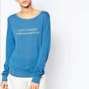 Wildfox Tops - Wildfox My Idea Of Roughing It Baggy Beach Jumper